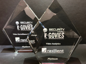 Rasilient Systems Awarded Platinum Govies for Video Analytics and Video Surveillance Data Storage in 2018 Government Security Award Competition